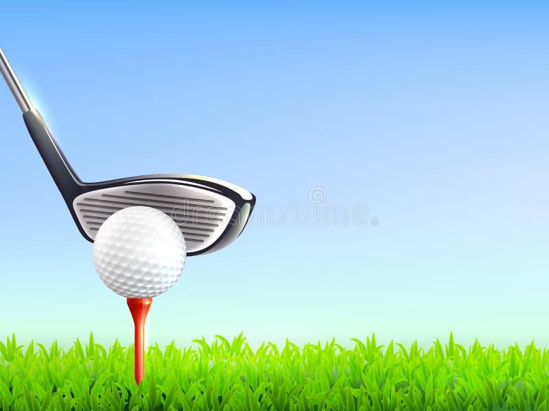 Fundo realístico do golfe ilustração stock