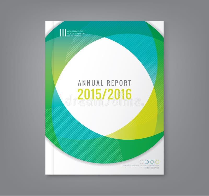 Fundo redondo abstrato das formas do círculo para o inseto do cartaz da tampa do relatório ilustração do vetor