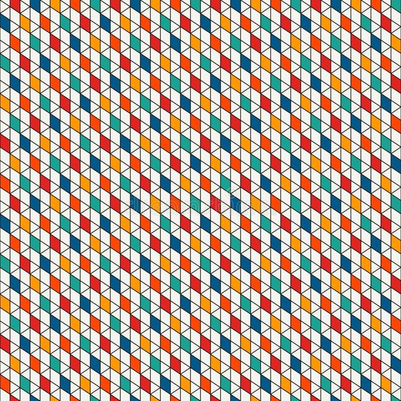Fundo repetido dos diamantes Teste padrão sem emenda geométrico com tessellation dos polígono Motivo dos rombos e das pastilhas ilustração stock