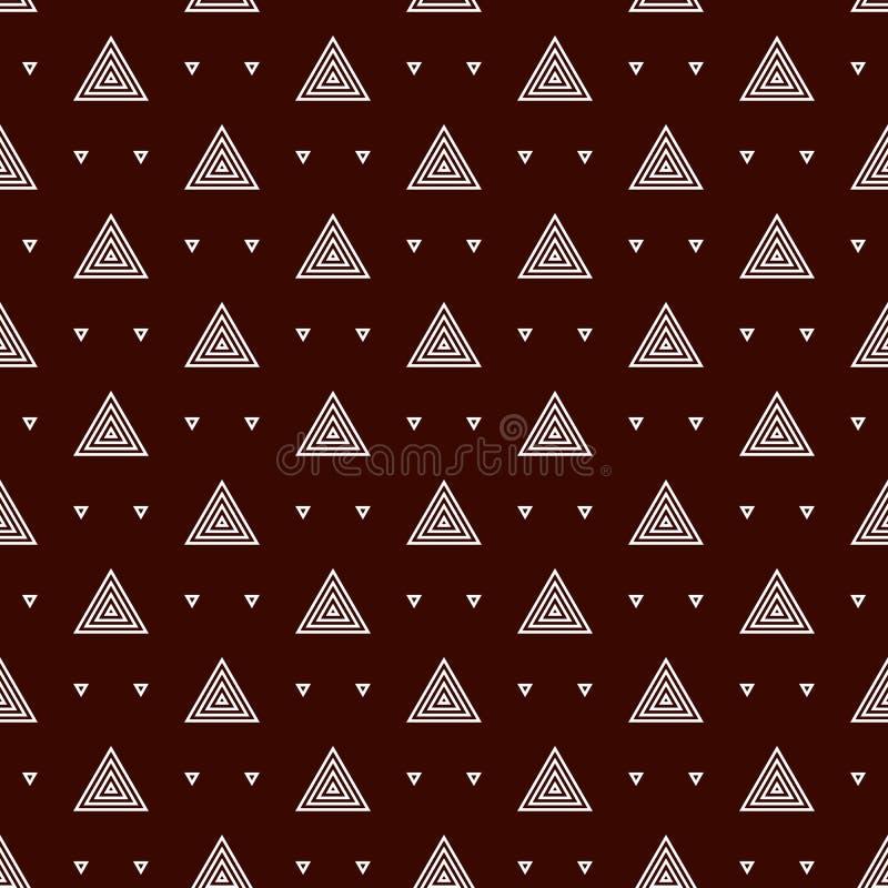 Fundo repetido esboço dos triângulos Papel de parede abstrato simples com figuras geométricas Teste padrão de superfície sem emen ilustração royalty free