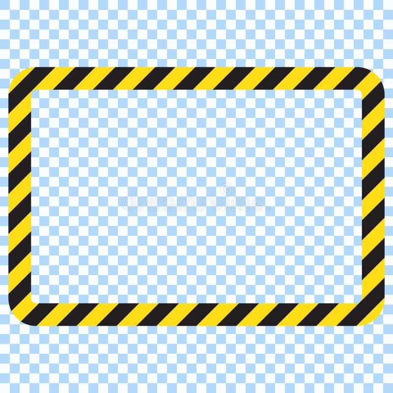 Fundo retangular listrado de advertência, advertindo para ser listras cuidadosas, potenciais do perigo, as amarelas & as pretas n ilustração royalty free
