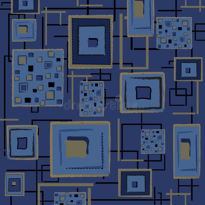 Fundo retro abstrato - azul ilustração stock