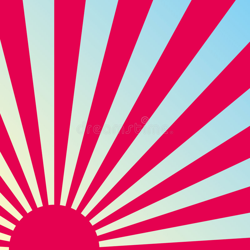 Fundo retro abstrato do nascer do sol. Vetor. ilustração do vetor
