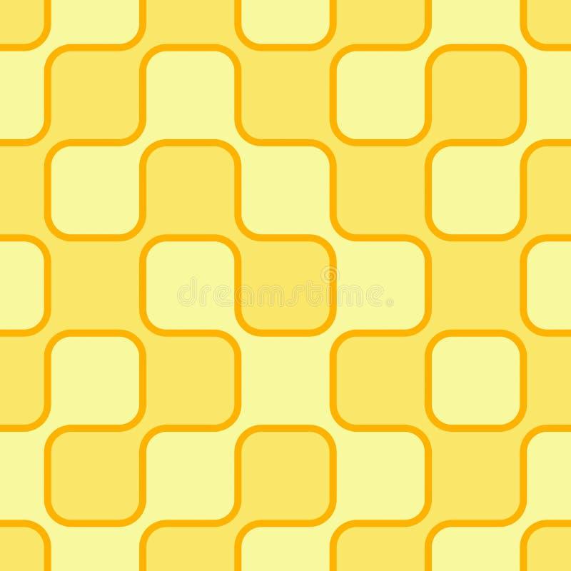 Fundo retro amarelo ilustração do vetor