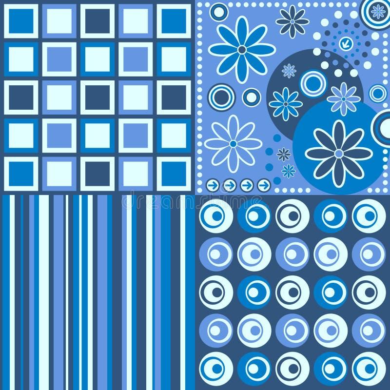 Fundo retro [azul] ilustração royalty free