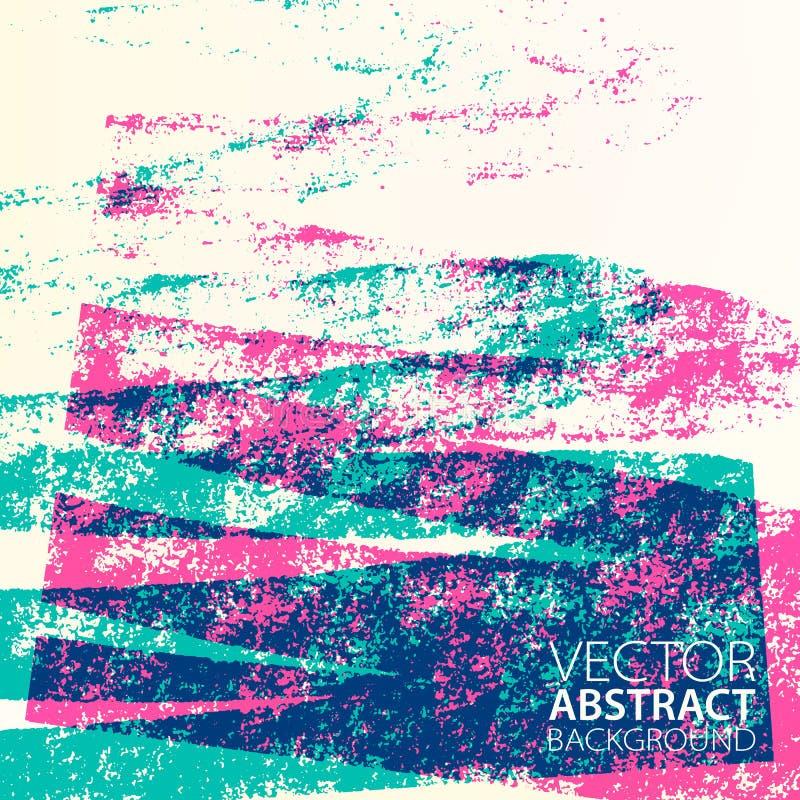 Fundo retro com espaço para o texto Projeto artístico da tampa do curso de Duoltone Mão gráfica contexto tirado ilustração do vetor