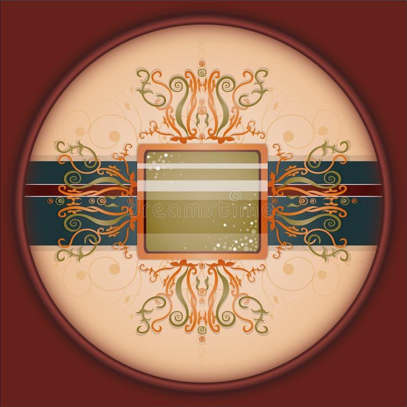 Fundo retro com ornamento. ilustração royalty free