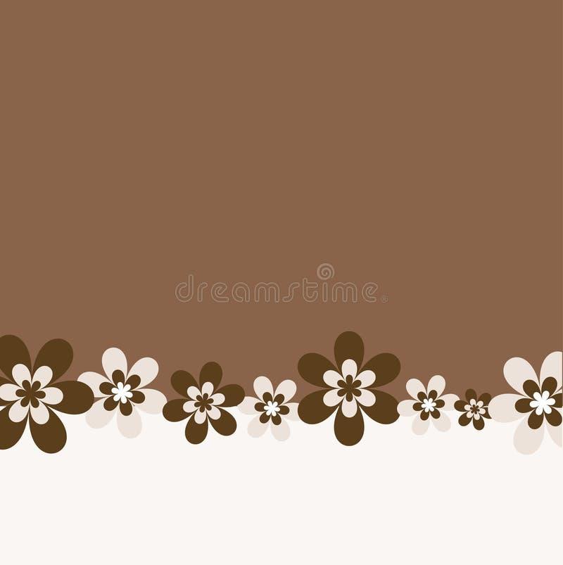Fundo retro da flor ilustração stock