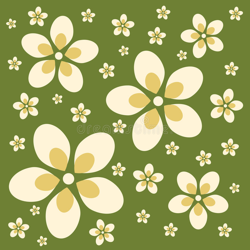 Fundo retro da flor ilustração royalty free
