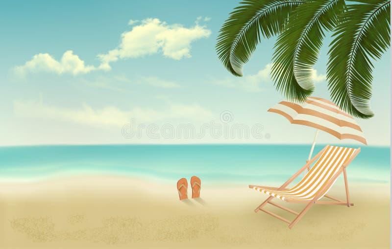Fundo retro das férias de verão ilustração royalty free