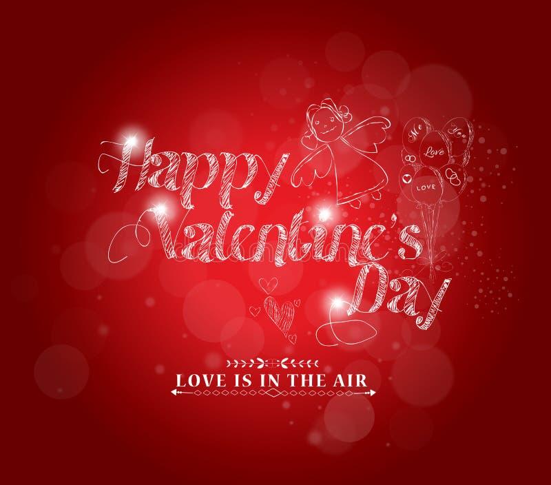 Fundo retro do amor para o cartão feliz do dia de Valentim ilustração stock