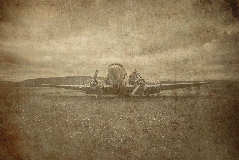 Fundo retro do bombardeiro só fotografia de stock