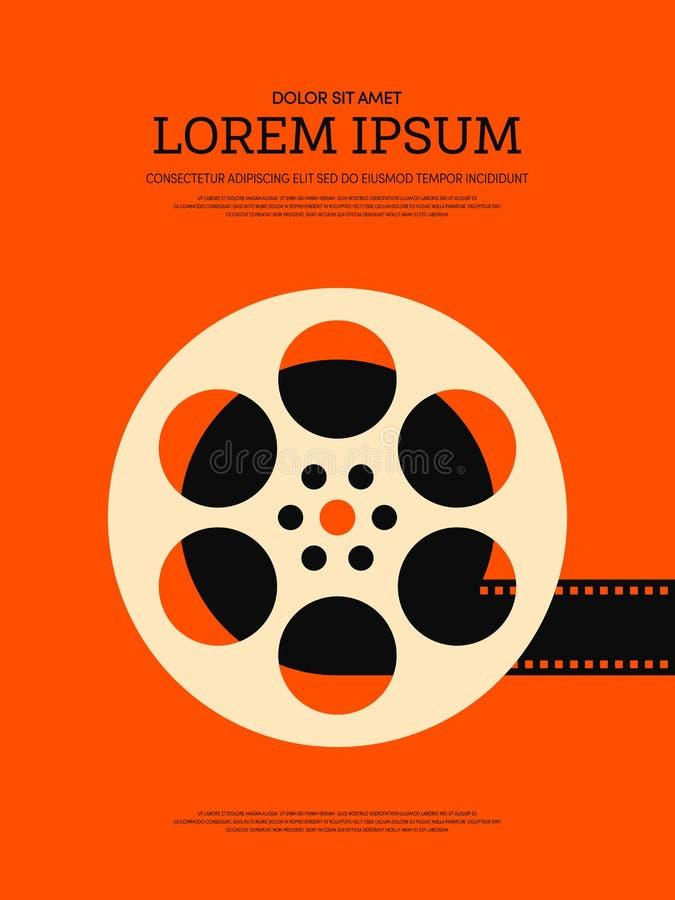 Fundo retro do cartaz do vintage do filme e do filme ilustração do vetor