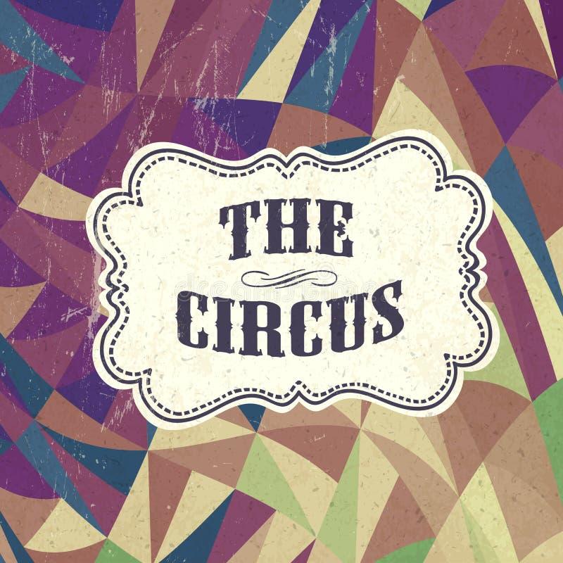 Fundo retro do circo ilustração royalty free