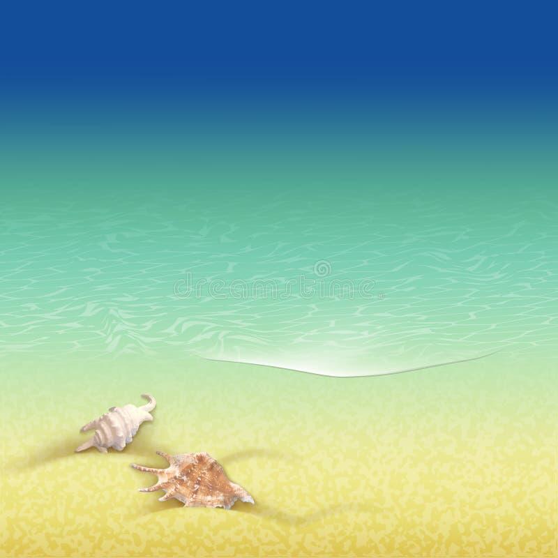 Fundo retro do estilo das férias de verão ilustração do vetor