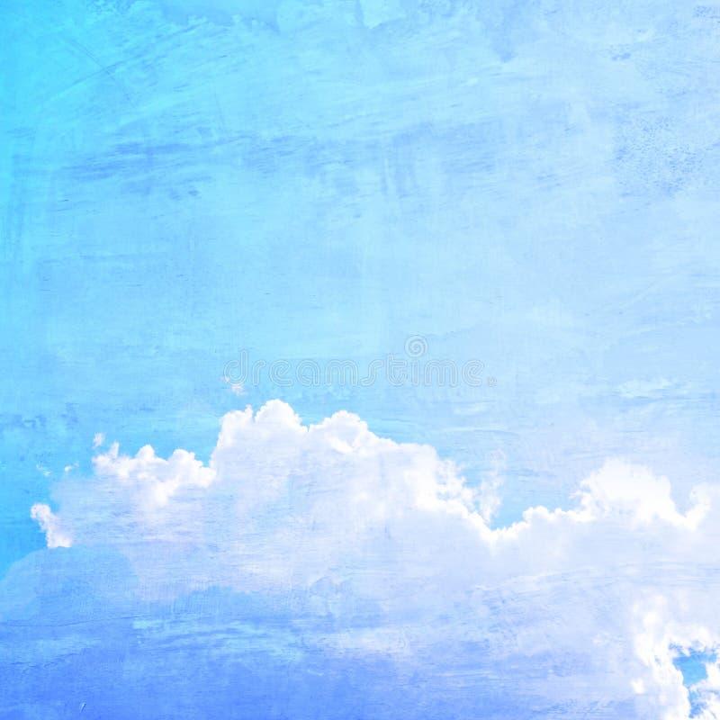 Fundo retro do estilo do céu azul foto de stock royalty free