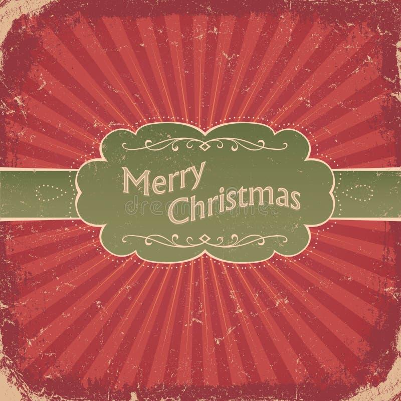 Fundo retro do Natal. ilustração do vetor