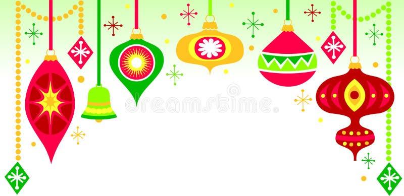Fundo retro do ornamento do Natal ilustração stock