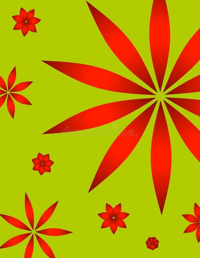 Fundo retro do Poinsettia do Natal ilustração do vetor