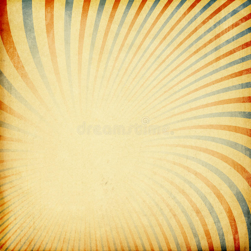 Fundo retro do sunburst. ilustração stock