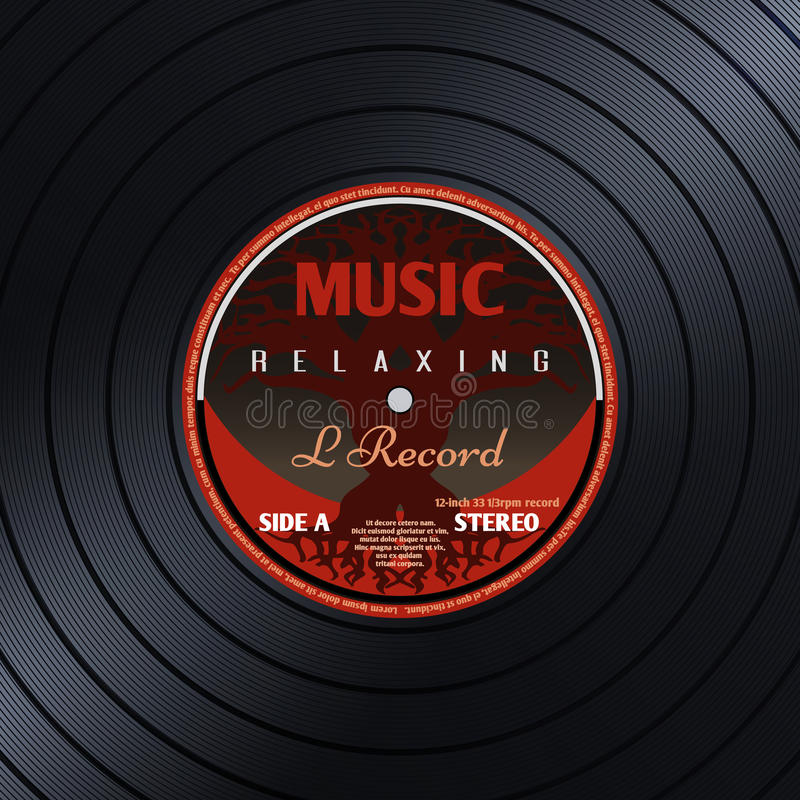 Fundo retro do vetor do cartaz da música do gravadora do vinil ilustração stock