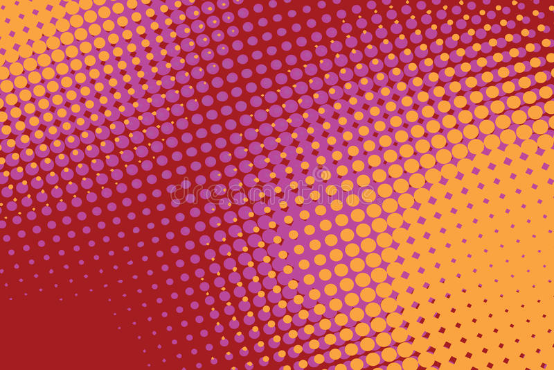 Fundo retro do vintage do pop art do vermelho alaranjado ilustração stock