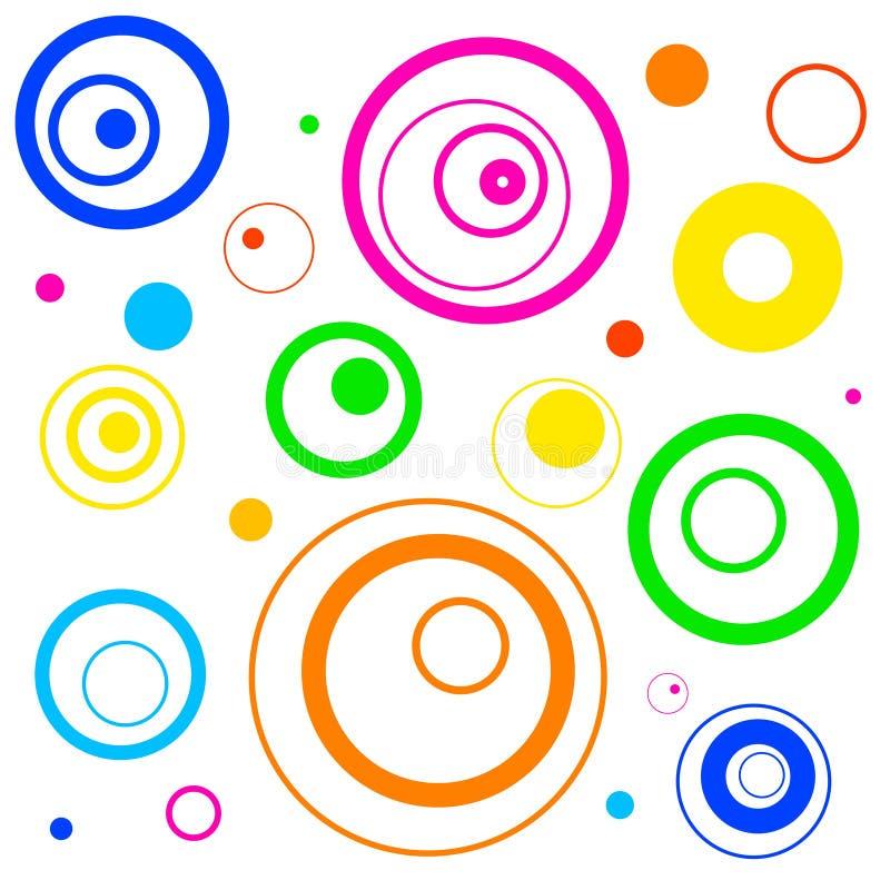 Fundo retro dos círculos ilustração royalty free
