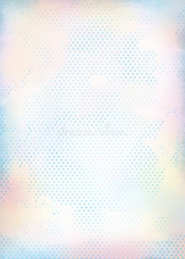 Fundo retro na luz - azul no estilo chique gasto ilustração do vetor
