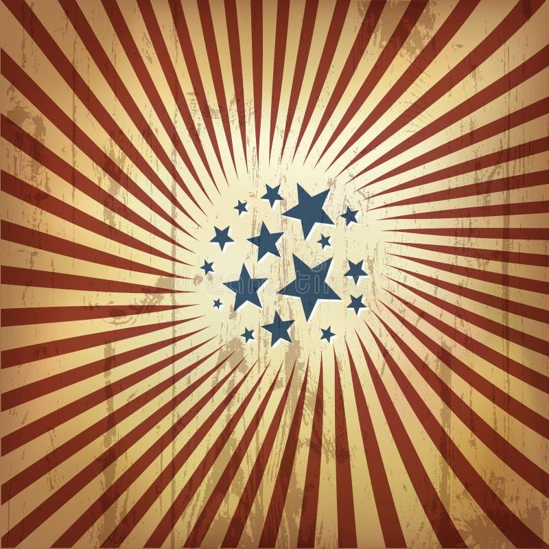Fundo retro patriótico americano. ilustração stock