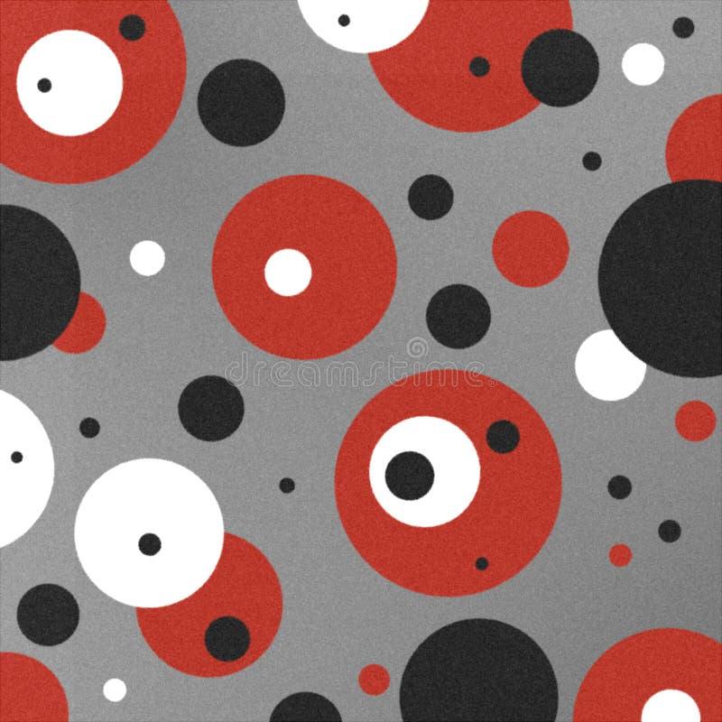 Fundo retro pintado dos círculos ilustração do vetor