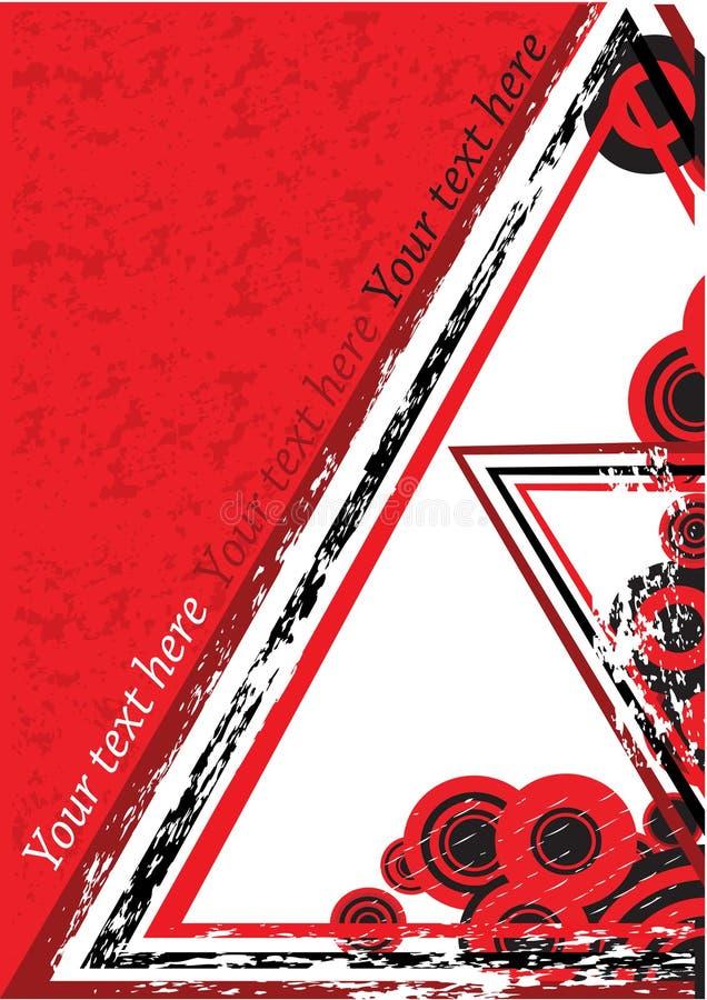 Fundo retro vermelho ilustração do vetor