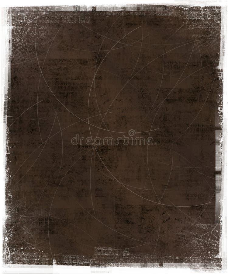 Fundo riscado com frame de Grunge ilustração royalty free