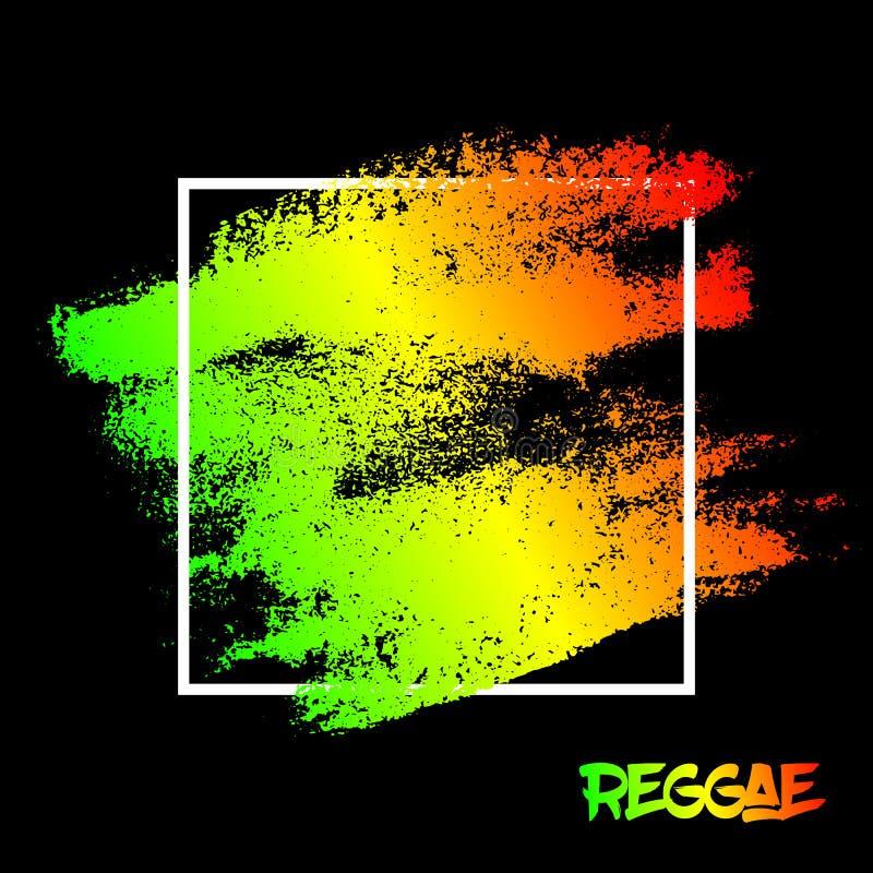 Fundo riscado pintado sumário da textura A reggae da ilustração EPS10 colore verde, amarelo, vermelho ilustração royalty free