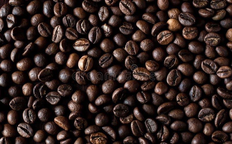 Fundo Roasted dos feijões de café do café foto de stock royalty free