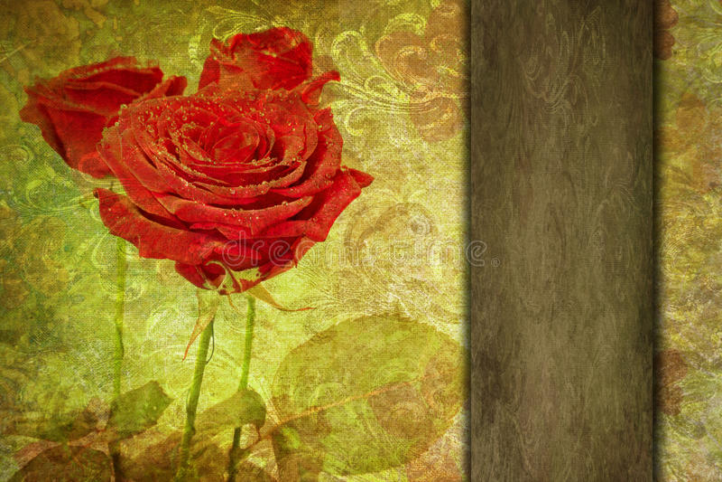 Fundo romântico abstrato do vintage do Valentim ilustração stock
