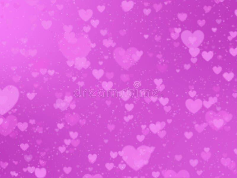 Fundo romântico com corações em um fundo cor-de-rosa imagem de stock royalty free