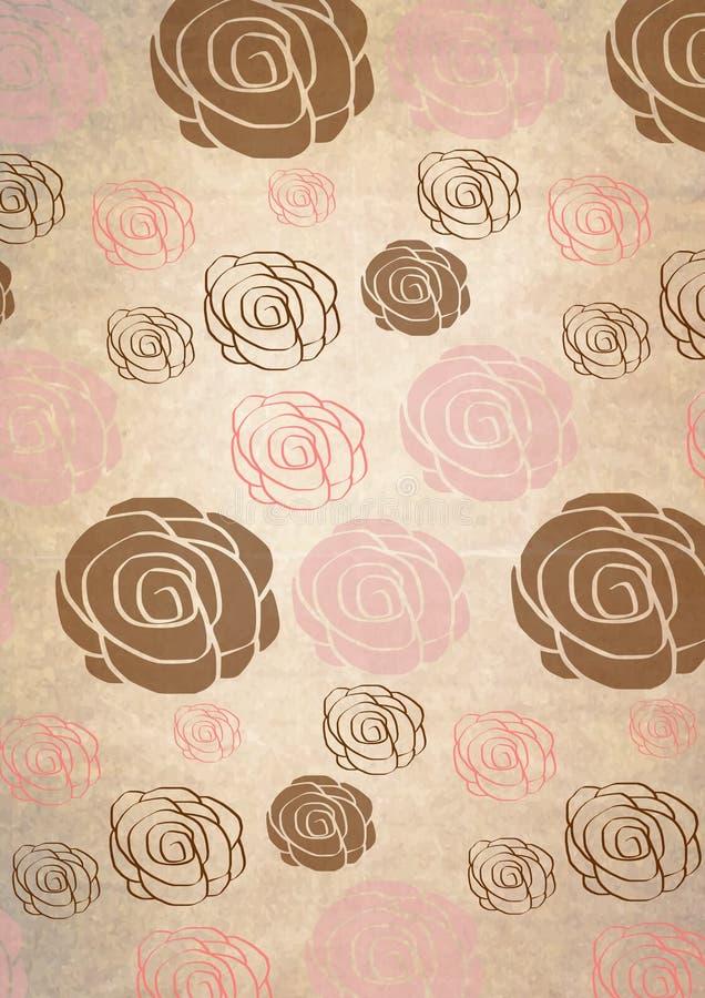 Fundo romântico das rosas ilustração stock