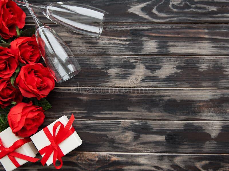 Fundo romântico do dia de são valentim foto de stock royalty free