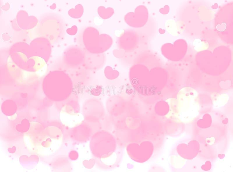 Fundo romance cor-de-rosa macio para o cartão Valentine Day ilustração royalty free