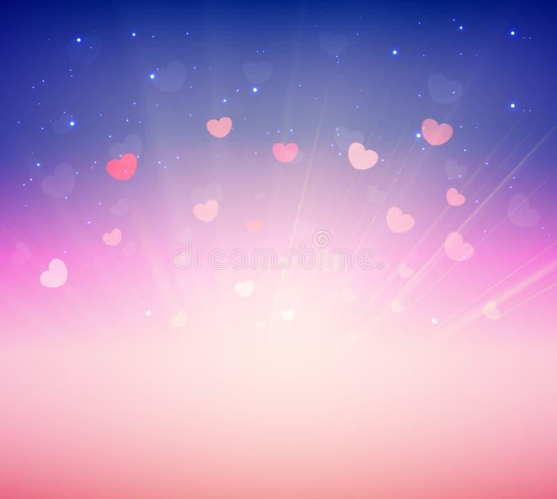 Fundo romance cor-de-rosa macio para o cartão Valentine Day ilustração do vetor