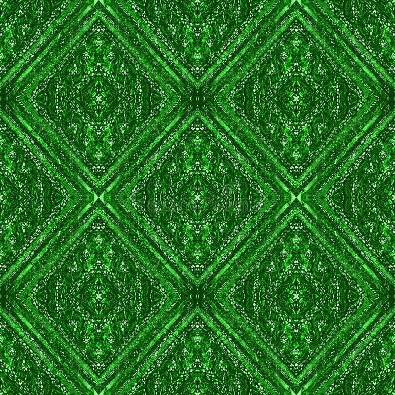 Fundo romano do sumário do mosaico nas máscaras do verde vívido imagens de stock