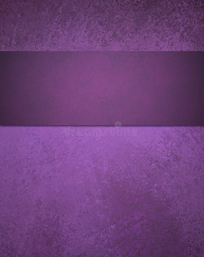Fundo roxo abstrato com listra da fita ilustração do vetor