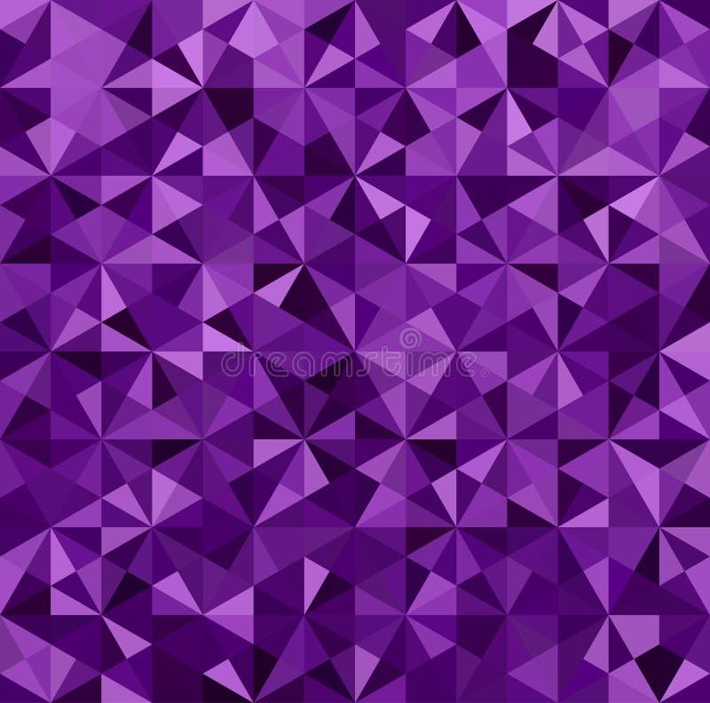 Fundo roxo abstrato do triângulo ilustração do vetor
