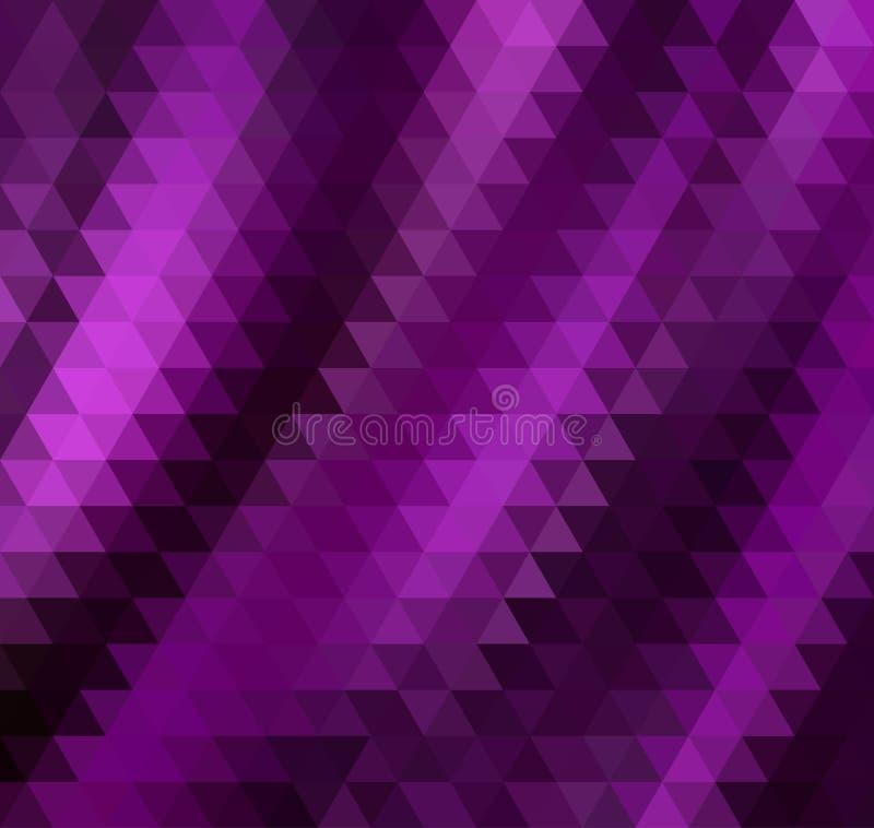 Fundo roxo abstrato do triângulo ilustração royalty free