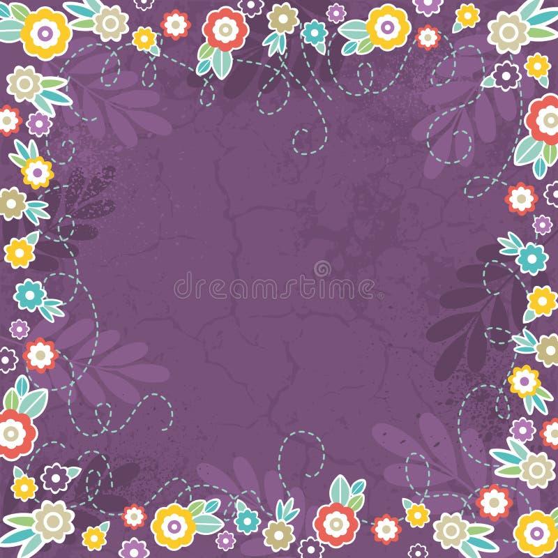 Fundo roxo de flores da cor, vetor ilustração royalty free