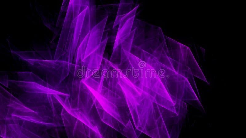 Fundo roxo escuro abstrato com luz lisa ilustração royalty free