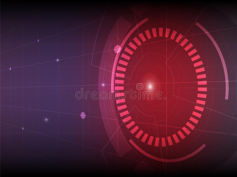 Fundo roxo vermelho abstrato da tecnologia digital ilustração do vetor