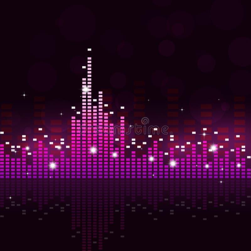 Fundo sadio da música do equalizador ilustração royalty free
