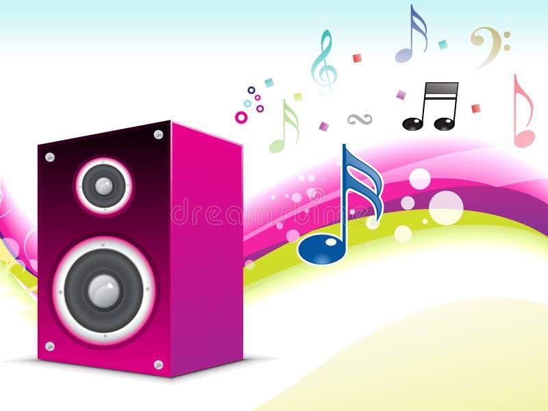 Fundo sadio musical abstrato ilustração stock