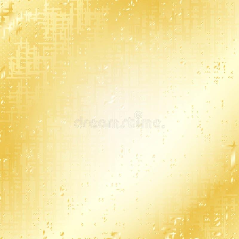 Fundo salpicado do grunge do ouro ilustração do vetor